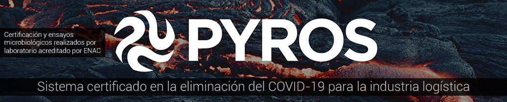 PYROS certificado en eliminación de COVID-19